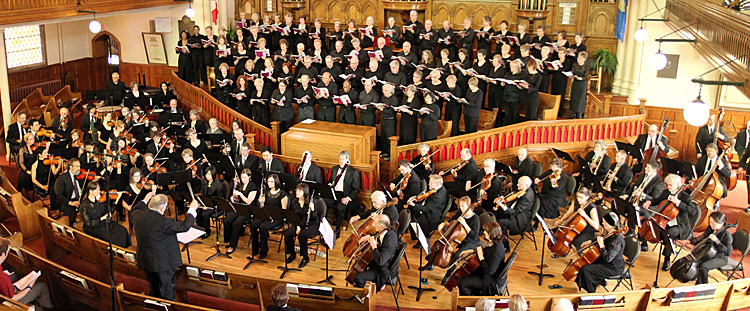 2011: Frank Dunnigan conducts the Concordia Symphony Orchestra and the Concordia Community Chorus